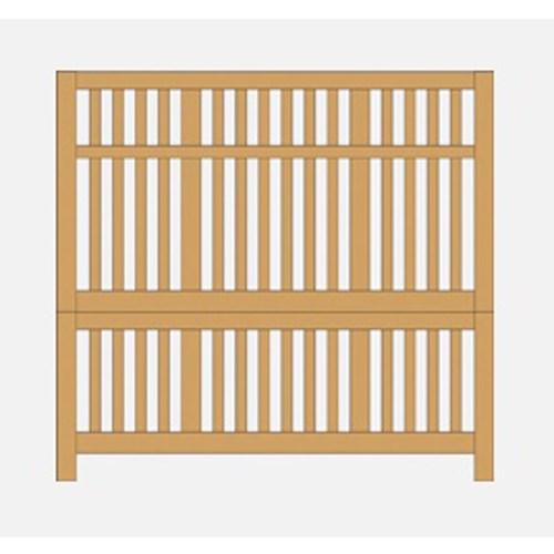 Artisan & Post Artisan Choices King Craftsman Slat Bed - Item Number: 105-668+866+933+MS2