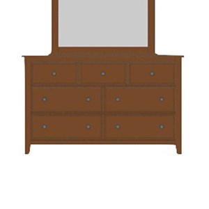 Artisan & Post by Vaughan Bassett Artisan Choices Loft Triple Dresser - 7 Drawers