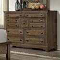 Artisan & Post Artisan Choices Villa Triple Dresser - 9 Drawers - Item Number: 106-004