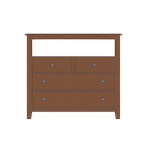 Artisan & Post by Vaughan Bassett Artisan Choices Loft Media Chest - 4 Drawers