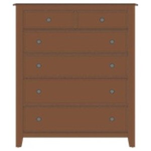 Artisan & Post by Vaughan Bassett Artisan Choices Loft Chest - 5 Drawers
