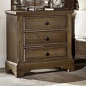 Artisan & Post Artisan Choices Villa Night Stand - 3 Drawers - Item Number: 106-228
