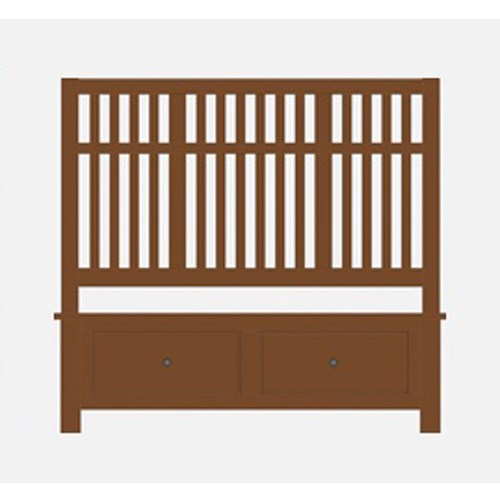 Queen Craftsman Slat Storage Bed