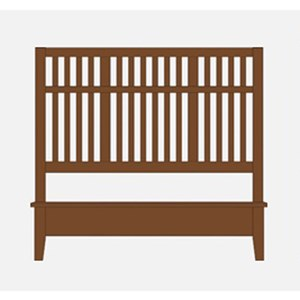 Artisan & Post by Vaughan Bassett Artisan Choices Queen Craftsman Slat Bed w/ Low Ftbd