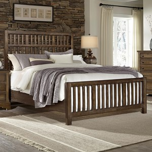 Artisan & Post by Vaughan Bassett Artisan Choices Queen Craftsman Slat Bed