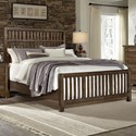Artisan & Post Artisan Choices Queen Craftsman Slat Bed - Item Number: 106-558+855+922