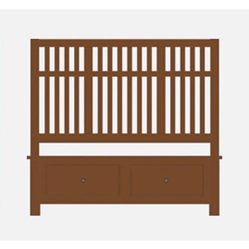 Artisan Choices King Craftsman Slat Storage Bed by Artisan & Post at Zak's Home