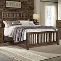 Artisan & Post by Vaughan Bassett Artisan Choices King Craftsman Slat Bed - Item Number: 106-668+866+933+MS2
