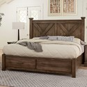 Artisan & Post Cool Rustic Solid Wood King Barndoor X Bed with Storage Footboard - Bed Shown May Not Represent Size Indicated