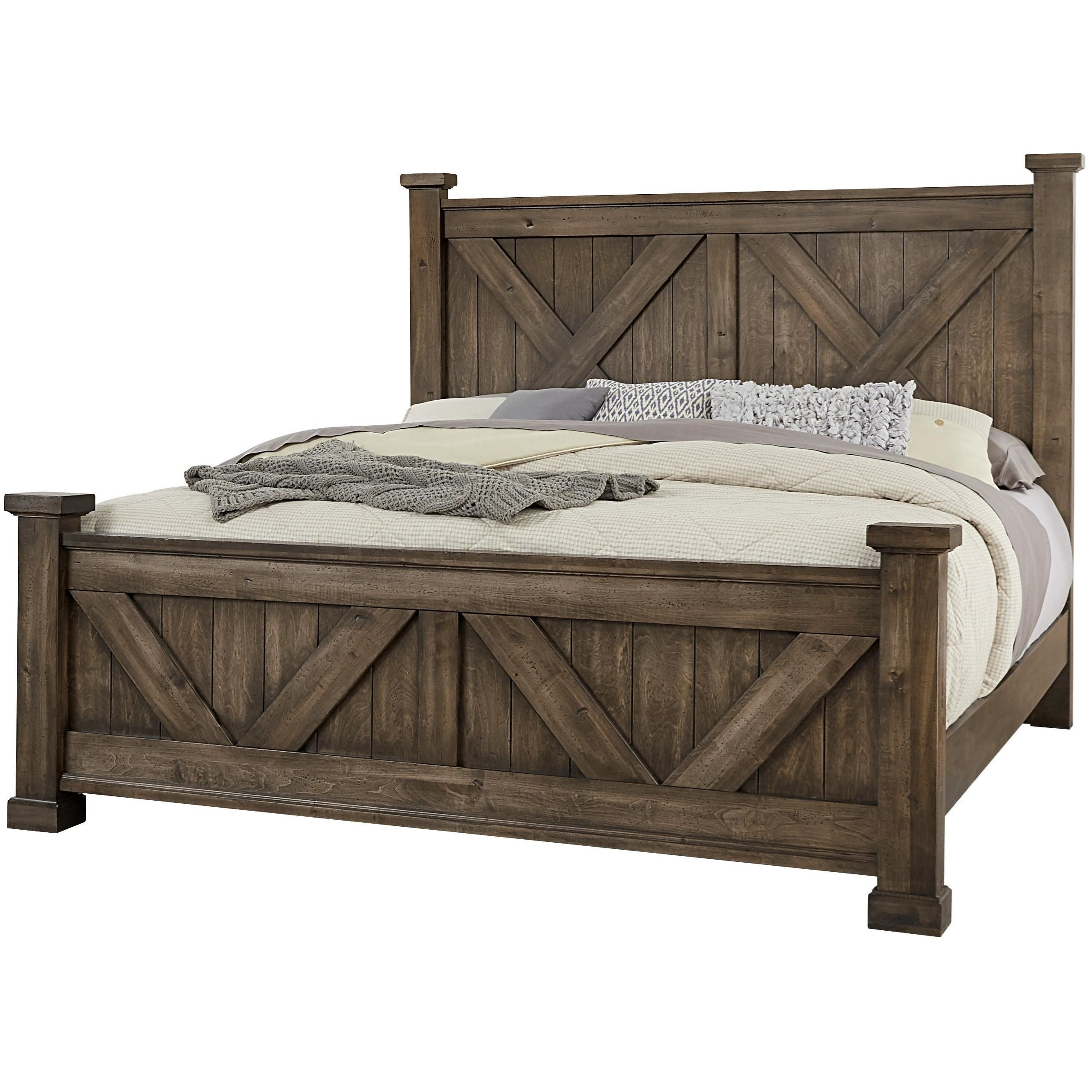 Artisan Post Cool Rustic Solid Wood Queen Barndoor X Headboard
