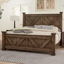 Artisan & Post Cool Rustic Solid Wood Queen Barndoor X Headboard and Footboard Bed - Bed Shown May Not Represent Size Indicated