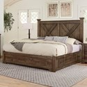 Artisan & Post Cool Rustic Solid Wood King Barndoor X Bed with Side Storage - Bed Shown May Not Represent Size Indicated