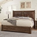 Artisan & Post Cool Rustic Solid Wood King Leather Headboard Bed - Bed Shown May Not Represent Size Indicated