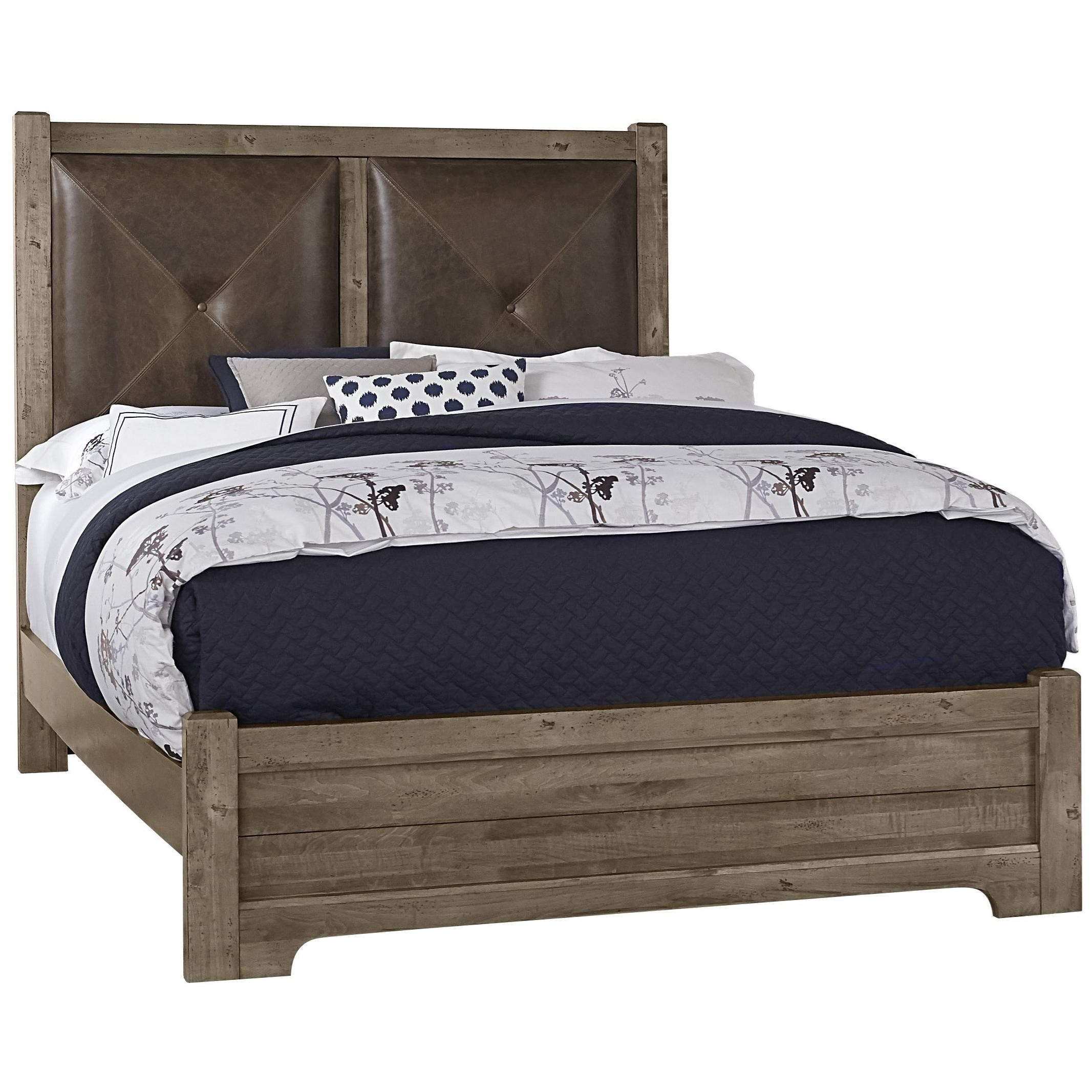 King Leather Headboard Bed