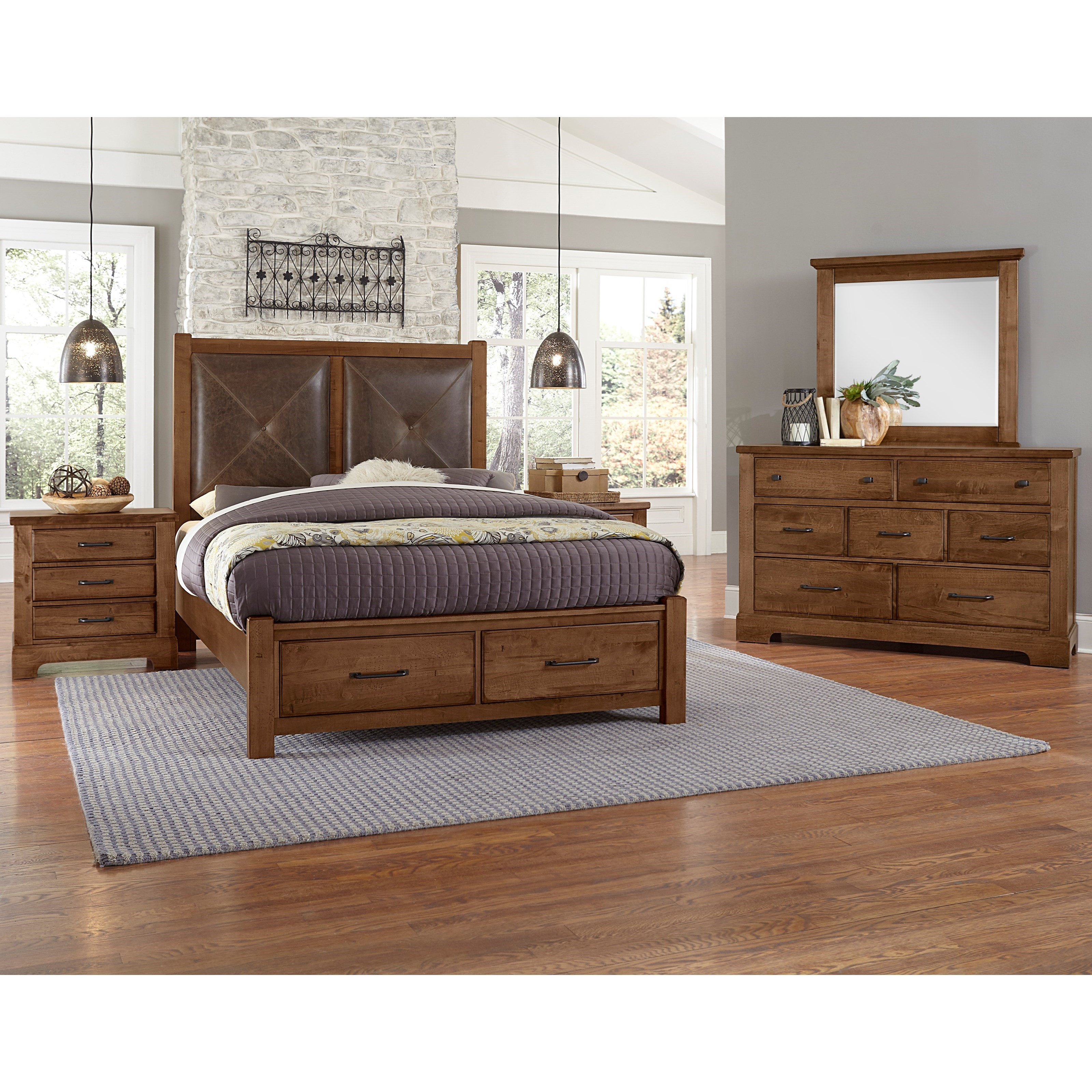 Cool Rustic Queen Bedroom Group by Artisan & Post at Northeast Factory Direct
