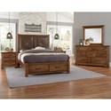 Artisan & Post Cool Rustic Queen Bedroom Group - Item Number: 174 Queen Bedroom Group 5