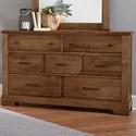 Artisan & Post Cool Rustic Solid Wood 7 Drawer Dresser