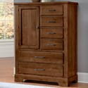 Artisan & Post Cool Rustic Solid Wood  6 Drawer Standing Chest