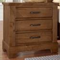 Artisan & Post Cool Rustic Solid Wood 3 Drawer Nightstand