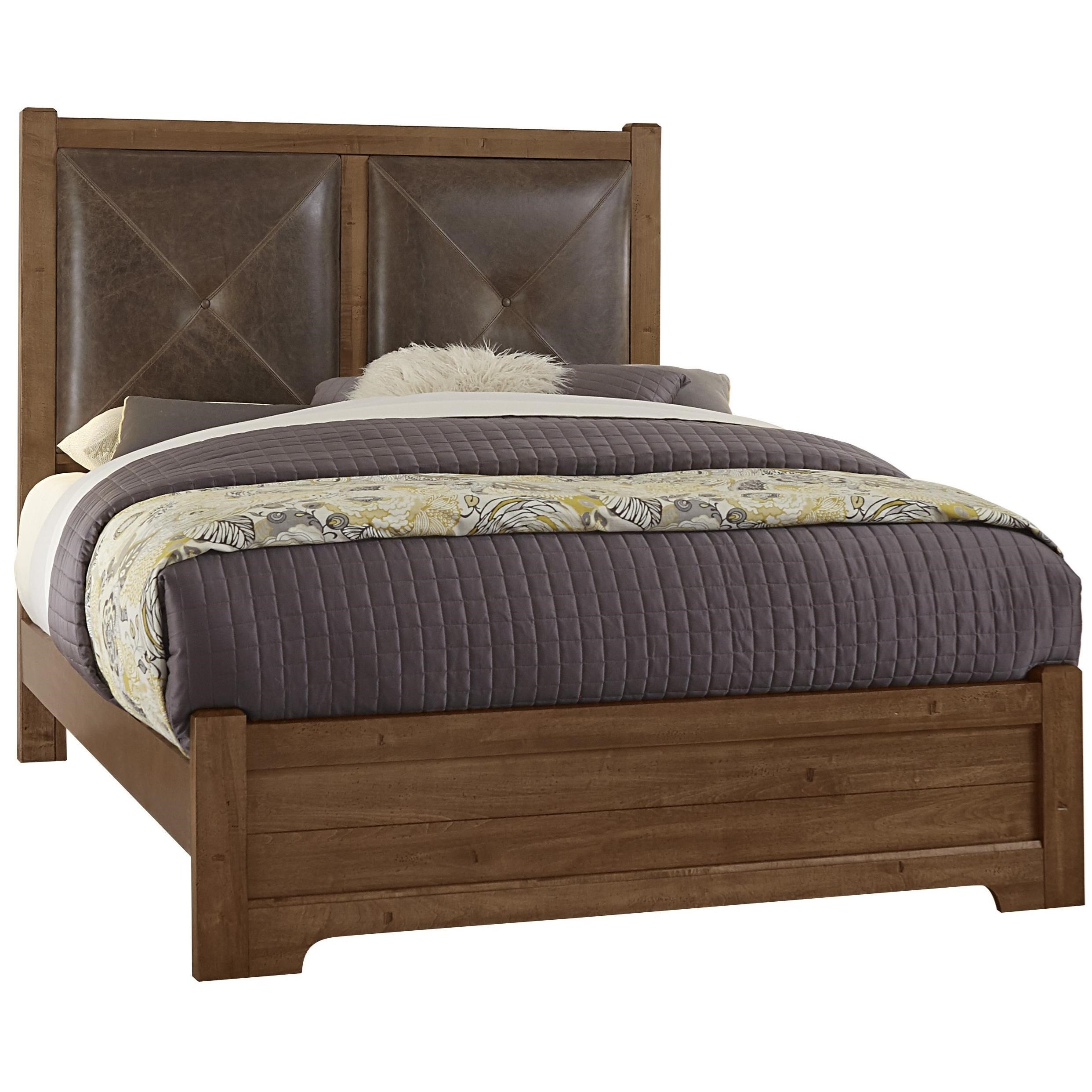 Wood And Leather Headboard: Artisan & Post Cool Rustic Solid Wood Queen Leather