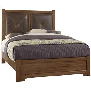Queen Leather Headboard Bed