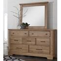 Artisan & Post Cool Rustic 7 Drawer Dresser and Mirror - Item Number: 175-002+446