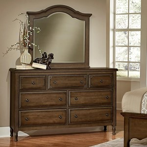 Artisan & Post Hamptons Triple Dresser & Arched Mirror