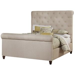 Artisan & Post Hamptons Queen Upholstered Roll Top Bed