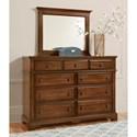Artisan & Post Heritage Dresser and Mirror - Item Number: 110-003+446