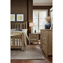 Artisan & Post by Vaughan Bassett Maple Road Solid Wood King Slat Poster Bed