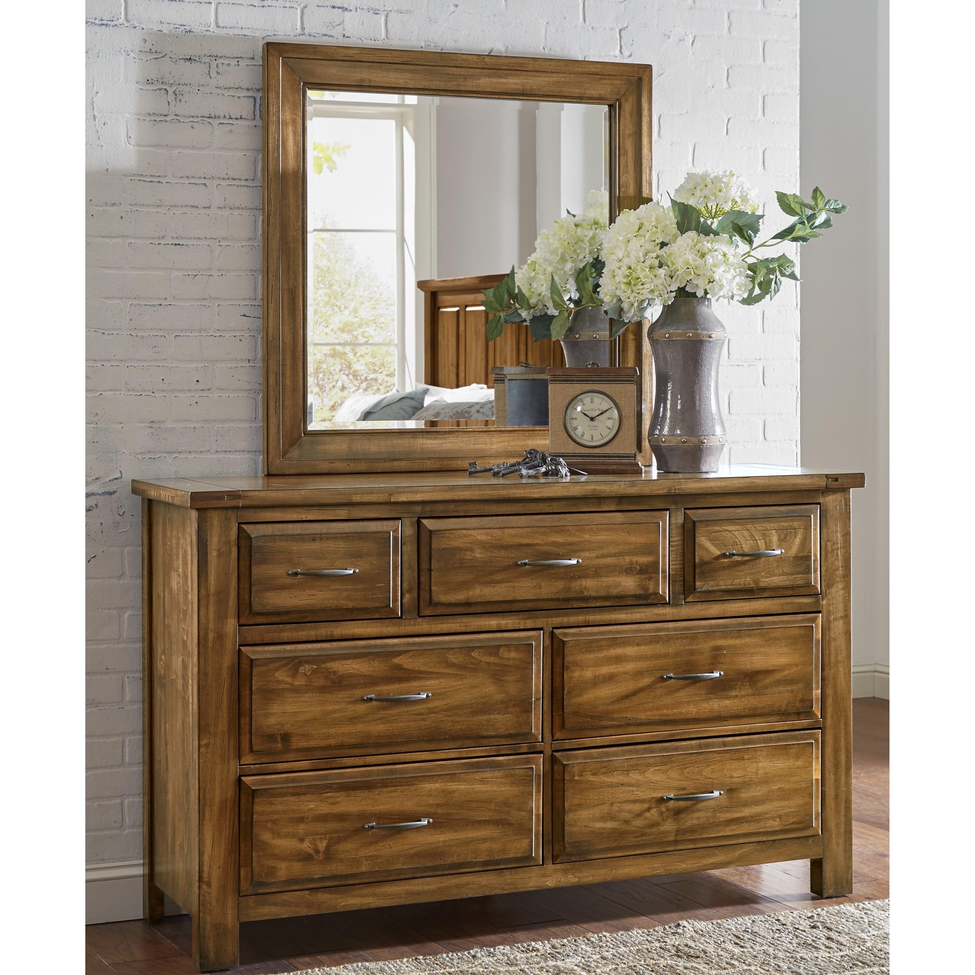 Artisan & Post Maple Road Dresser & Mirror - Item Number: 118-003+446