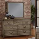 Virginia House Sedgwick Dresser with Mirror - Item Number: 120-003+446