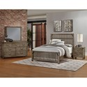 Artisan & Post Sedgwick Rustic King Slat Bed with Metal Accents - Bed Shown May Not Be Size Indicated