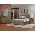 Artisan & Post Sedgwick Contemporary King Panel Bed with 3 Side Storage Drawers - Bed Shown May Not Represent Size Indicated