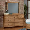 Virginia House Sedgwick Dresser with Mirror - Item Number: 122-003+446