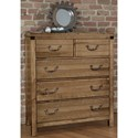 Artisan & Post Sedgwick Contemporary Solid Wood Chest with 5 Drawers