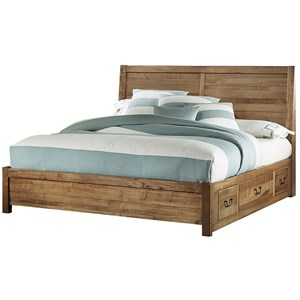 Queen Panel 6 Drawer Storage Bed