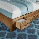 Artisan & Post Sedgwick Contemporary King Panel Bed with 3 Side Storage Drawers