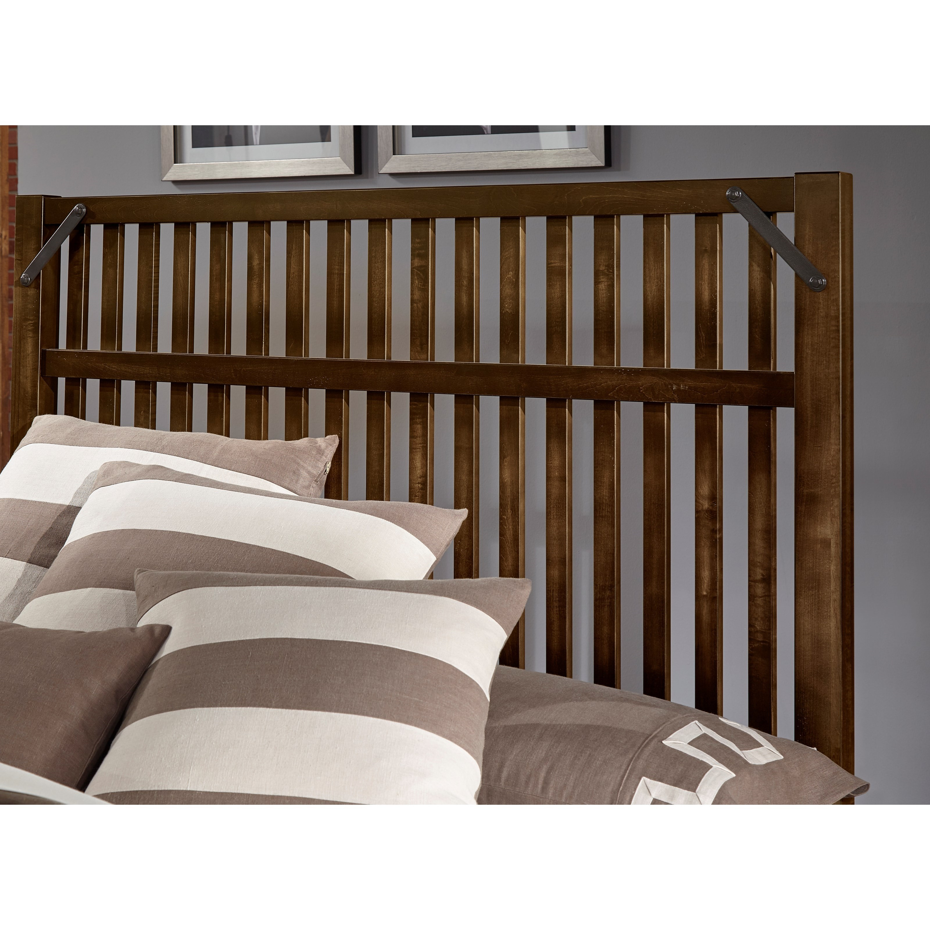 Artisan Amp Post Sedgwick Rustic Queen Slat Headboard With Metal Accents Wayside Furniture