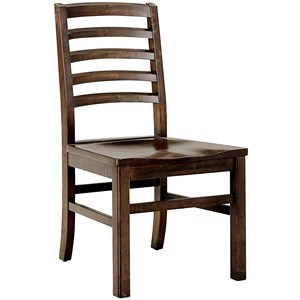 Horizontal Slat Side Chair
