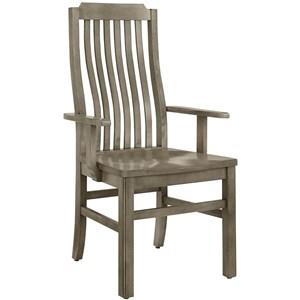 Vertical Slat Arm Chair