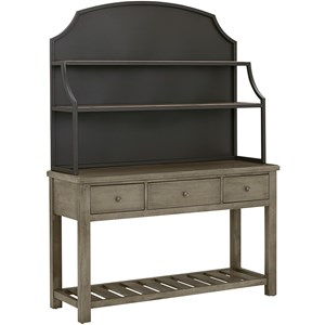 Artisan & Post Simply Dining-Maple Server & Metal Hutch