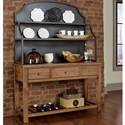Artisan & Post Simply Dining-Maple Casual Solid Wood Server & Metal Hutch