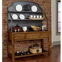 Artisan & Post Simply Dining-Maple Server & Metal Hutch - Item Number: 230-960+961