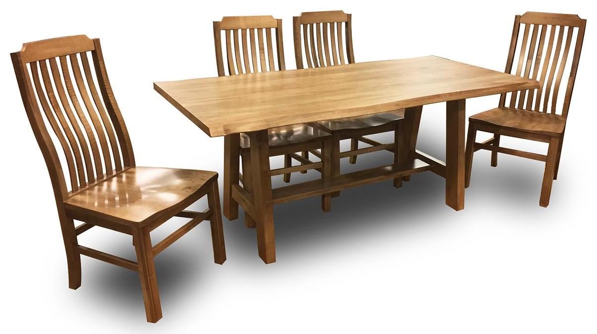 Artisan U0026 Post Simply Dining Maple 5 Piece Dining Set   Item Number: