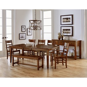 Artisan & Post Simply Dining Formal Dining Room Group