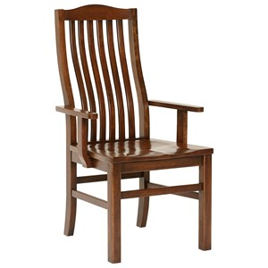 Artisan & Post Simply Dining Vertical Slat Arm Chair
