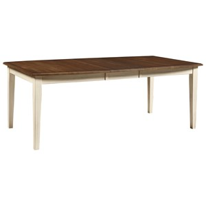 "Artisan & Post Simply Dining Boat Table (w/ self storing 16"" leaf)"