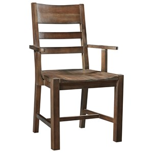 Artisan & Post Simply Dining Horizontal Slat Arm Chair