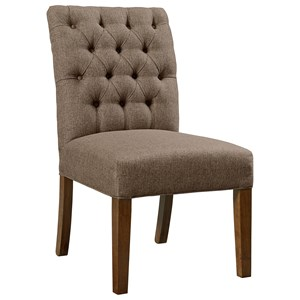 Artisan & Post Simply Dining Upholstered Side Chair (Dark Fabric)